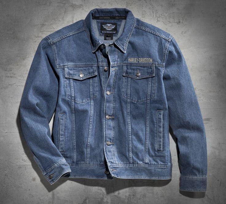 bar & shield denim jacket | shield logo and denim jackets