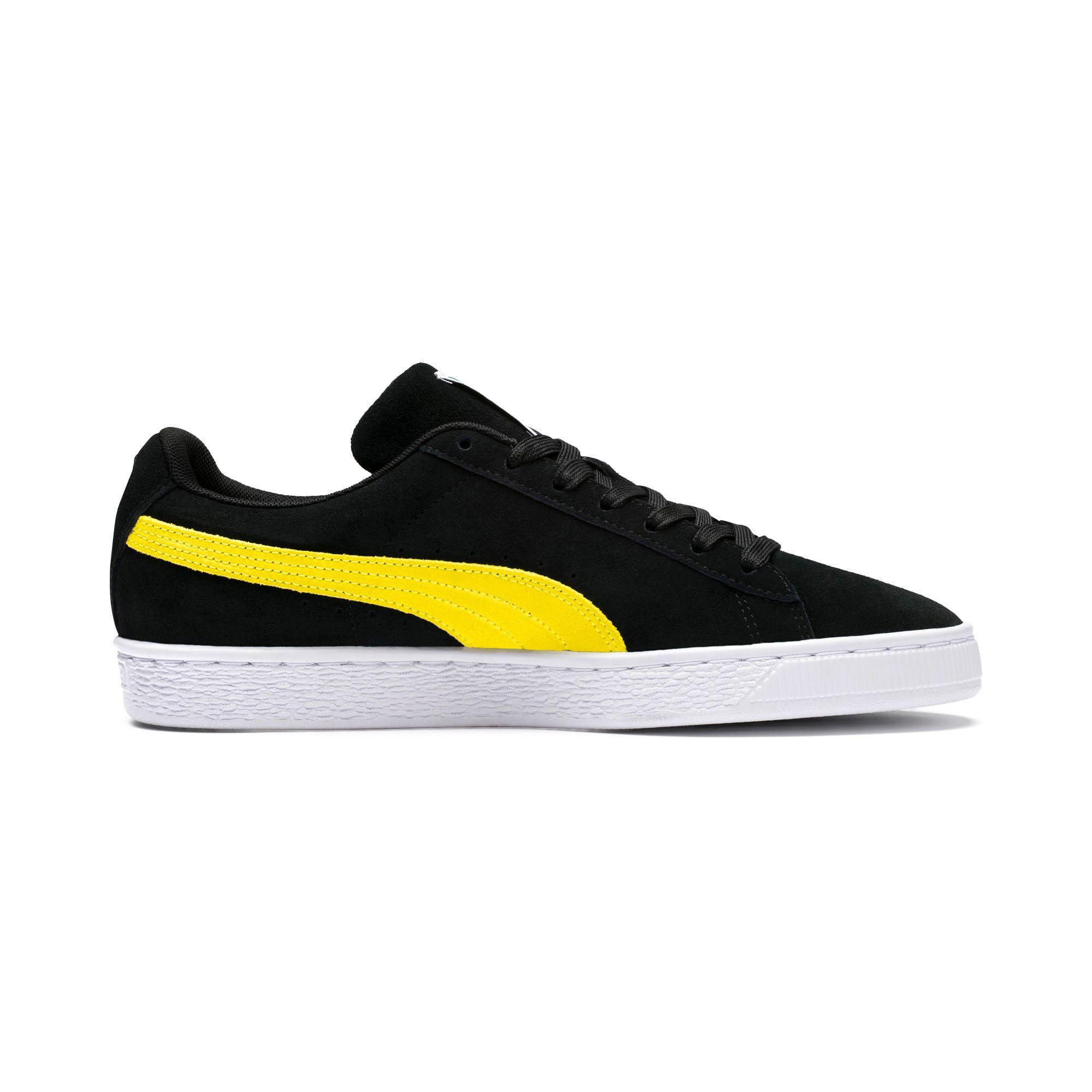 puma suede jaune et noir