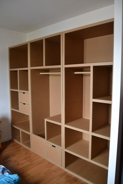 dressing en carton encastr cart n pinterest cardboard. Black Bedroom Furniture Sets. Home Design Ideas