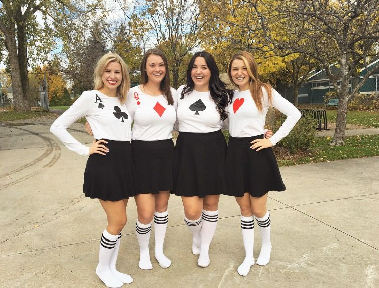 Playing Cards Group Costume Team Costumes Halloween Costumes For Teens Family Costumes