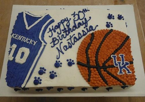Uk Basketball Cake Cakes Pinterest Uk Basketball