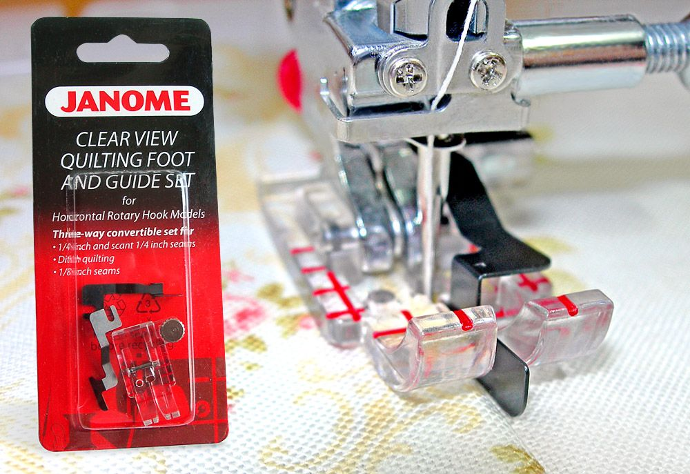 Janome Clear View Quilting Pie y Guía Set