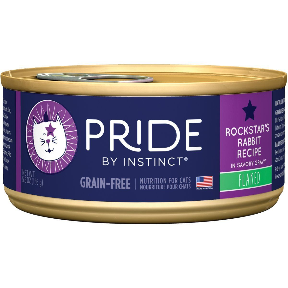 Pride by Instinct Rockstar Rabbit Flaked Recipe Canned Cat