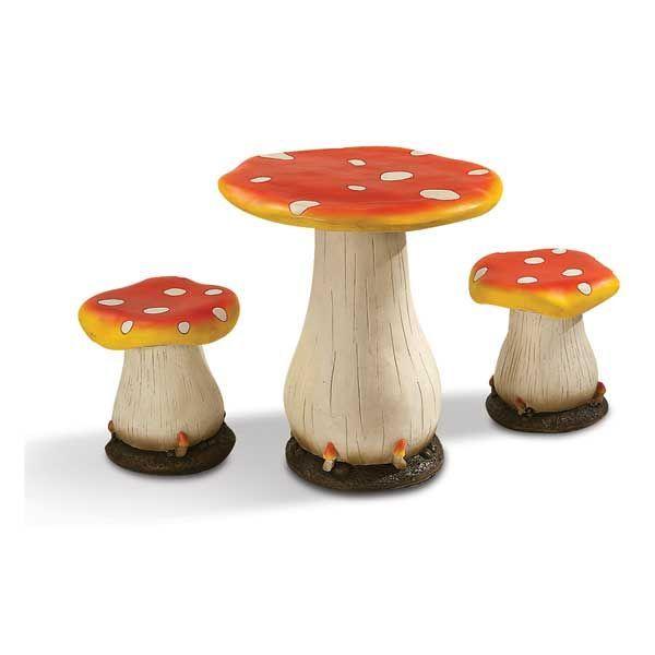 Mushroom 3 Piece Garden Set By Four Seasons Set Includes 1