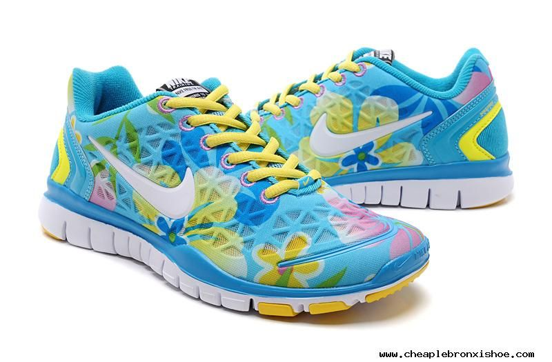 official photos 245e8 988a2 Womens Nike Free Tr Fit Ice Blue White Lemon Yellow Training Shoes For  Wholesale