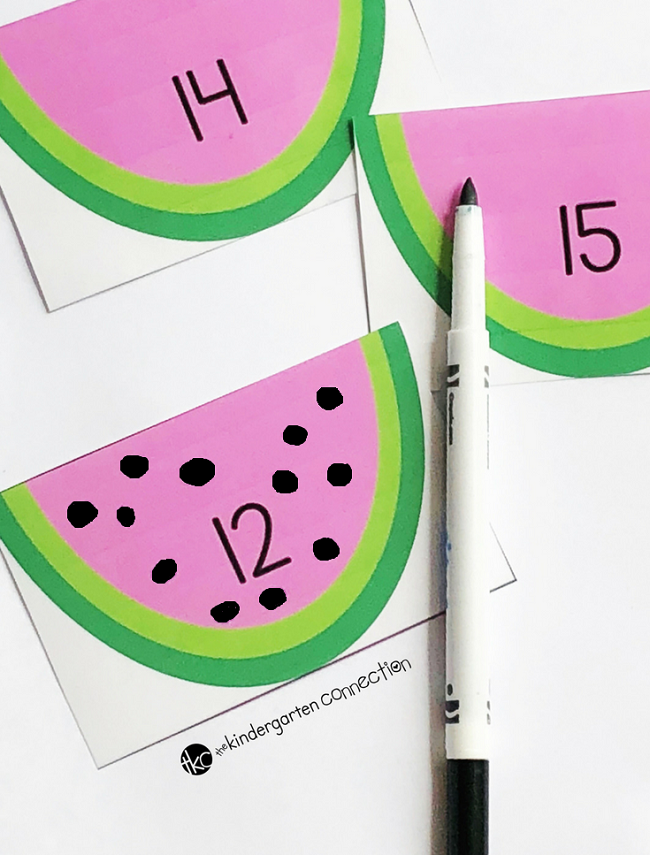Watermelon Counting Cards for Numbers 0-20 Grab these FREE Watermelon Counting Cards for Pre-K and Kindergarten! Children will work on counting and number identification for numbers 0-20.Grab these FREE Watermelon Counting Cards for Pre-K and Kindergarten! Children will work on counting and number identification for numbers 0-20.