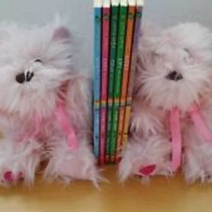 Juicy Couture Rare Plush bookends