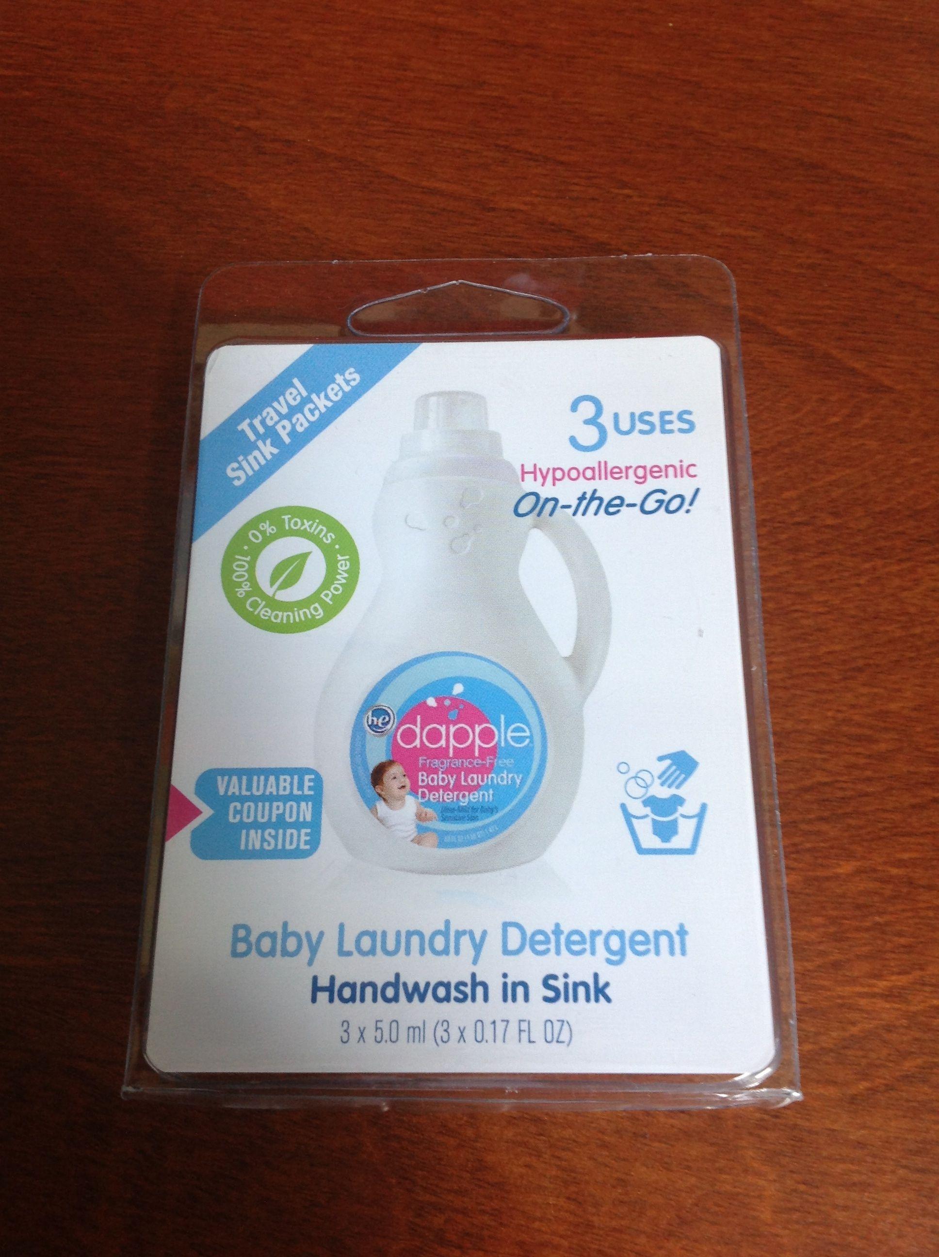 Dapple laundry detergent samples