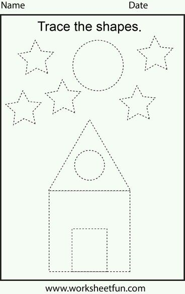 Shape tracing | Educational | Pinterest | Shapes, Worksheets and ...