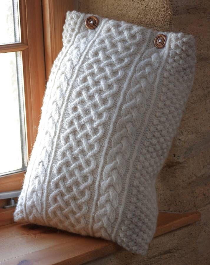 recycled aran jumper cushion by fab brick ...