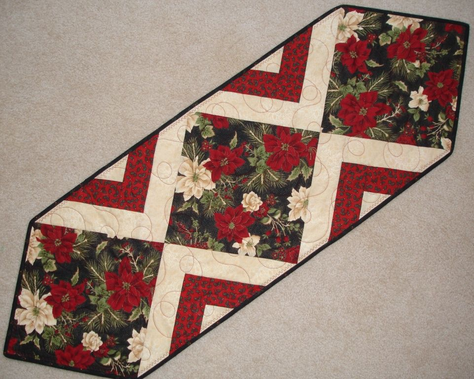 Free Quilt Patterns Table Runners Download : IMAGES OF CHRISTMAS TABLE RUNNER QUILT Do It Yourself Long Arm Quilting - Tablerunners For ...