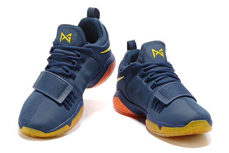 61649efdc3f Officiel New Colorways Paul George Shoes 2018 PG 1 One Midnight Navy  Metallic Gold Gradient Orange
