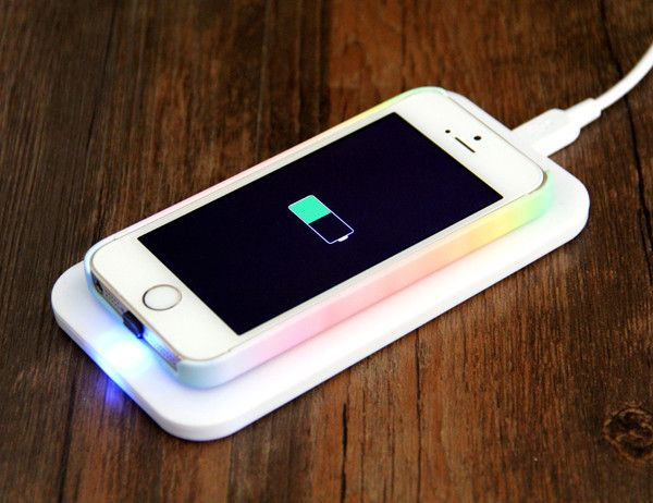 iPhone 5S/5/5C Qi Wireless Charger Charging Pad with Adapter Kit+Wireless Charger Receiver