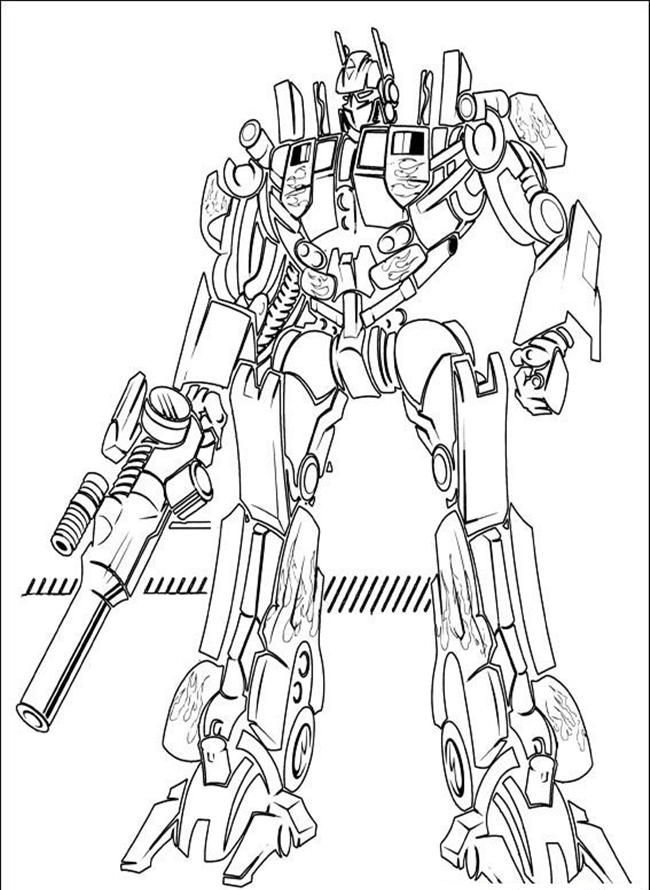 Printable Optimus Prime Coloring