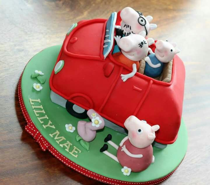 Peppa Pig Car Cake Cakes In 2018 Pinterest Car Cakes Cake And