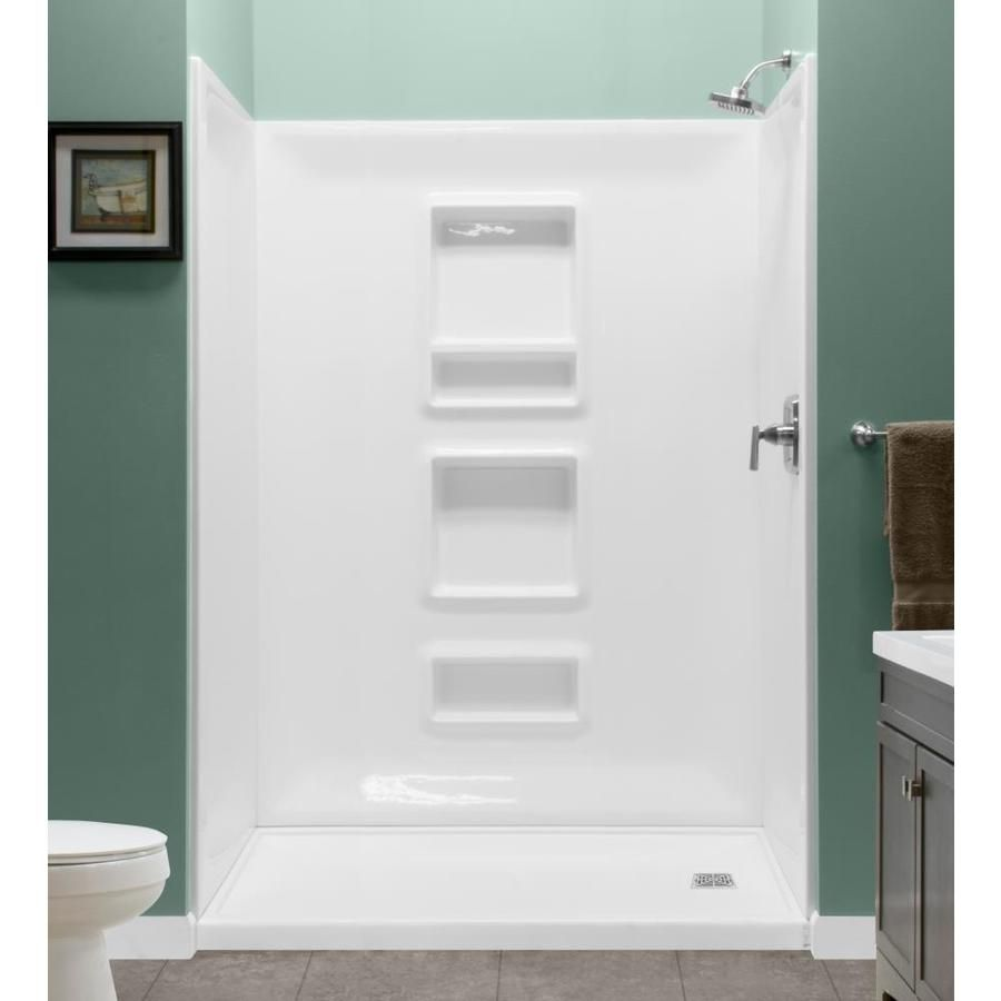 Style Selections White Shower Wall Surround Panel Kit Common 32