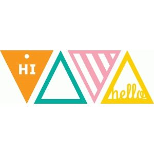 Silhouette Design Store - View Design #73465: triangle tags
