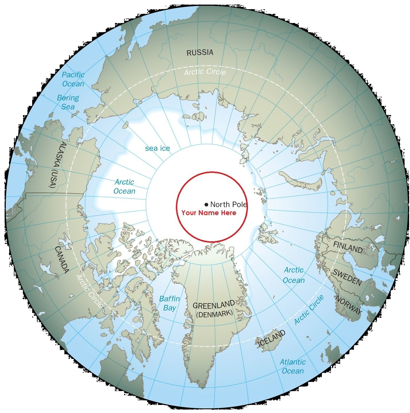 Pin by Sak on Misc | North pole map, North pole, Arctic circle
