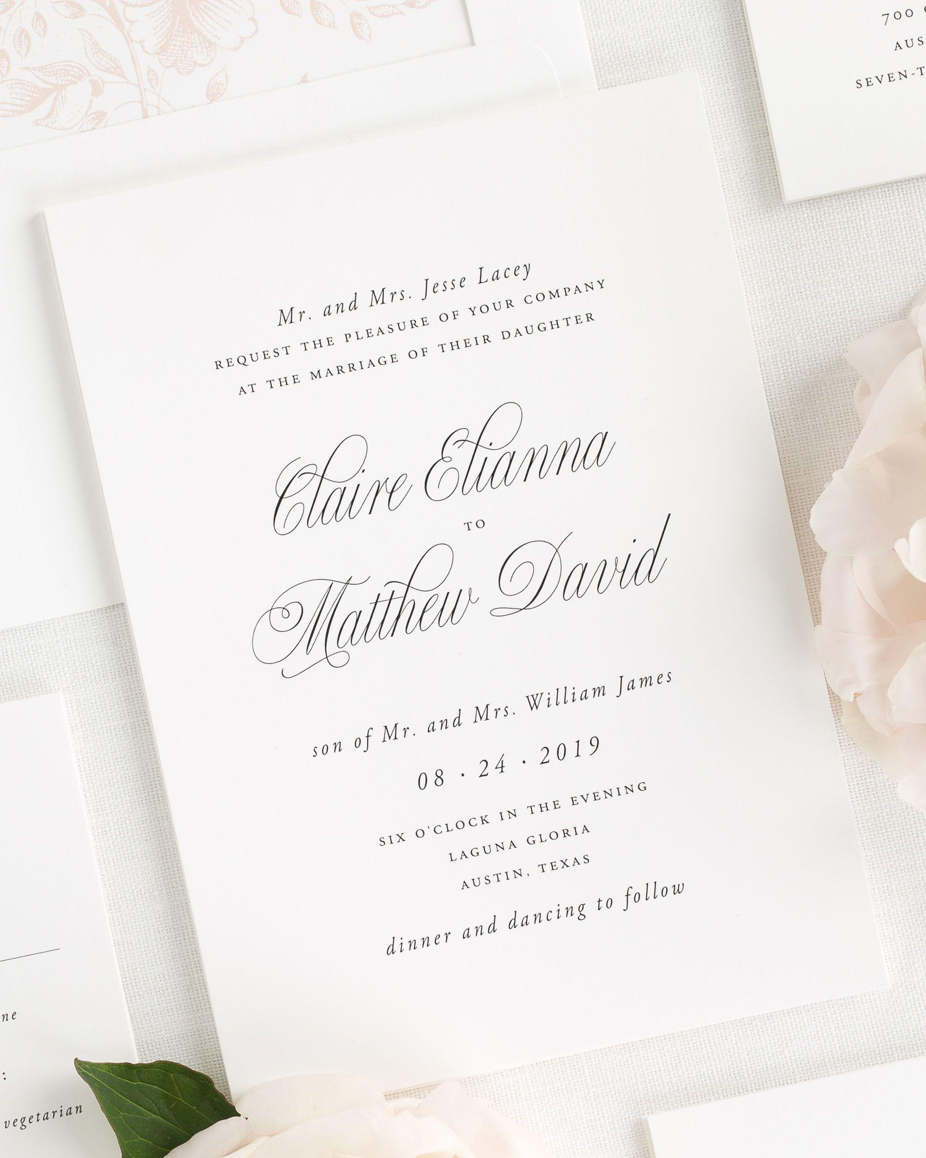Image result for elegant wedding invitation | Something Old ...
