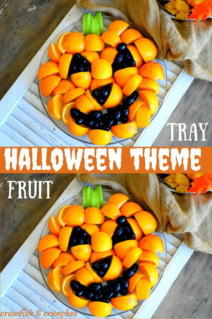 An easy recipe for Halloween Theme parties, easy inexpensive fruit tray