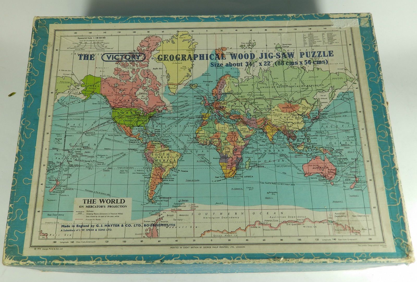 Vintage victory wooden jigsaw puzzle world map complete ebay puzzle shop vintage victory wooden jigsaw puzzle world map gumiabroncs Gallery