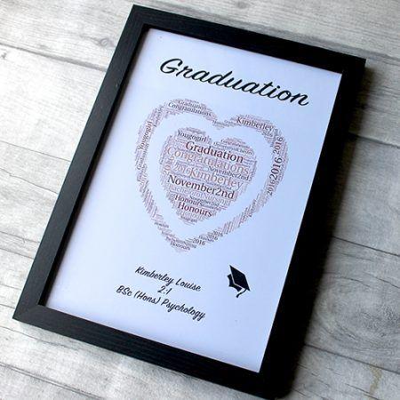 class of 2017 word art love heart graduation gifts frame