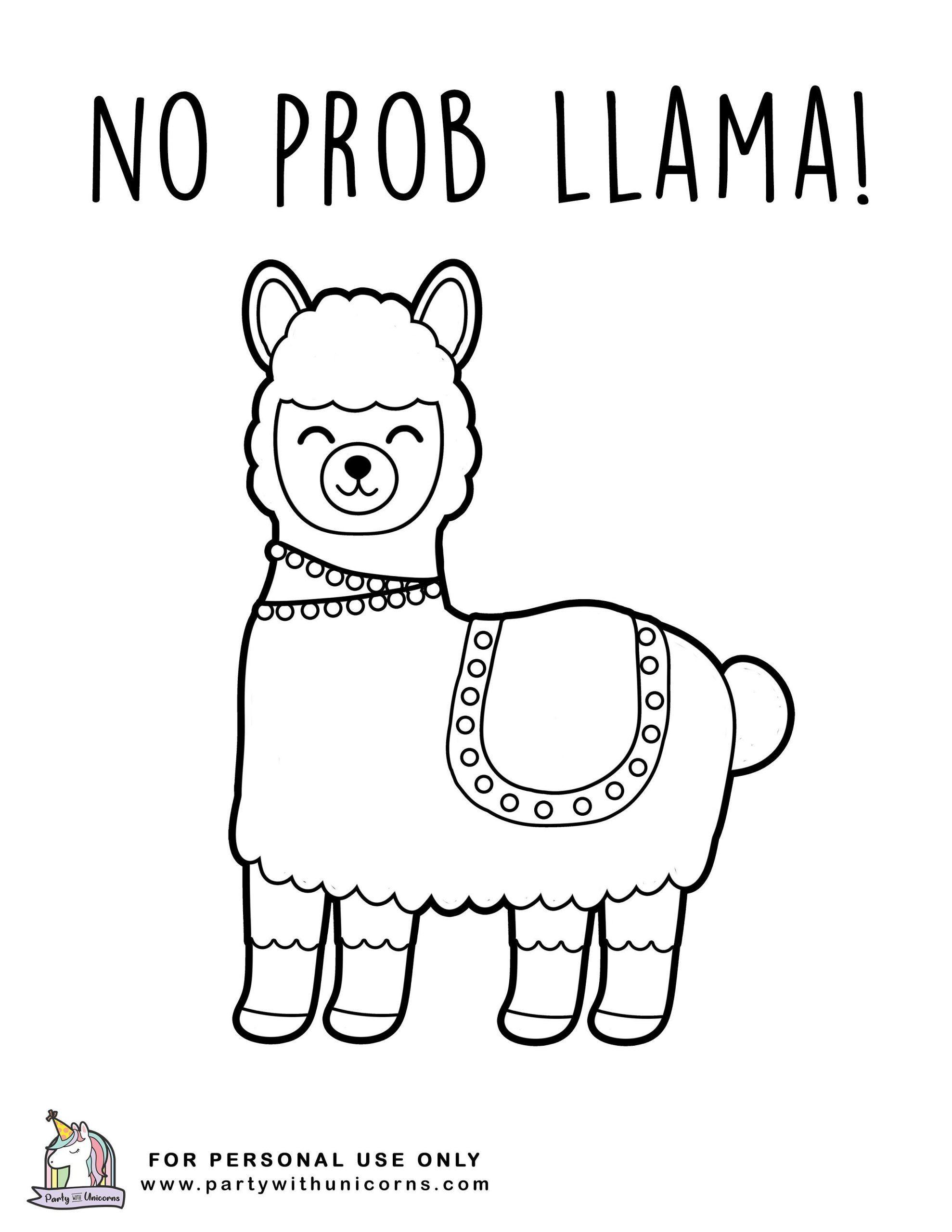 3 Llama Coloring Page Llama Coloring Pages In 2020 Coloring Pages Coloring Pages For Kids Coloring Books