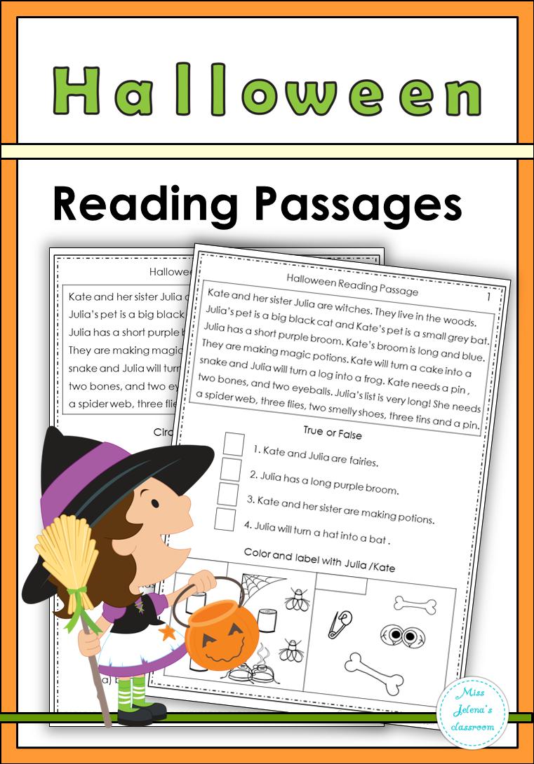 Halloween Reading Passages Halloween Reading Halloween Reading Passages Reading Passages [ 1090 x 761 Pixel ]