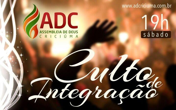 Divulgação culto de integração da Ad Criciúma
