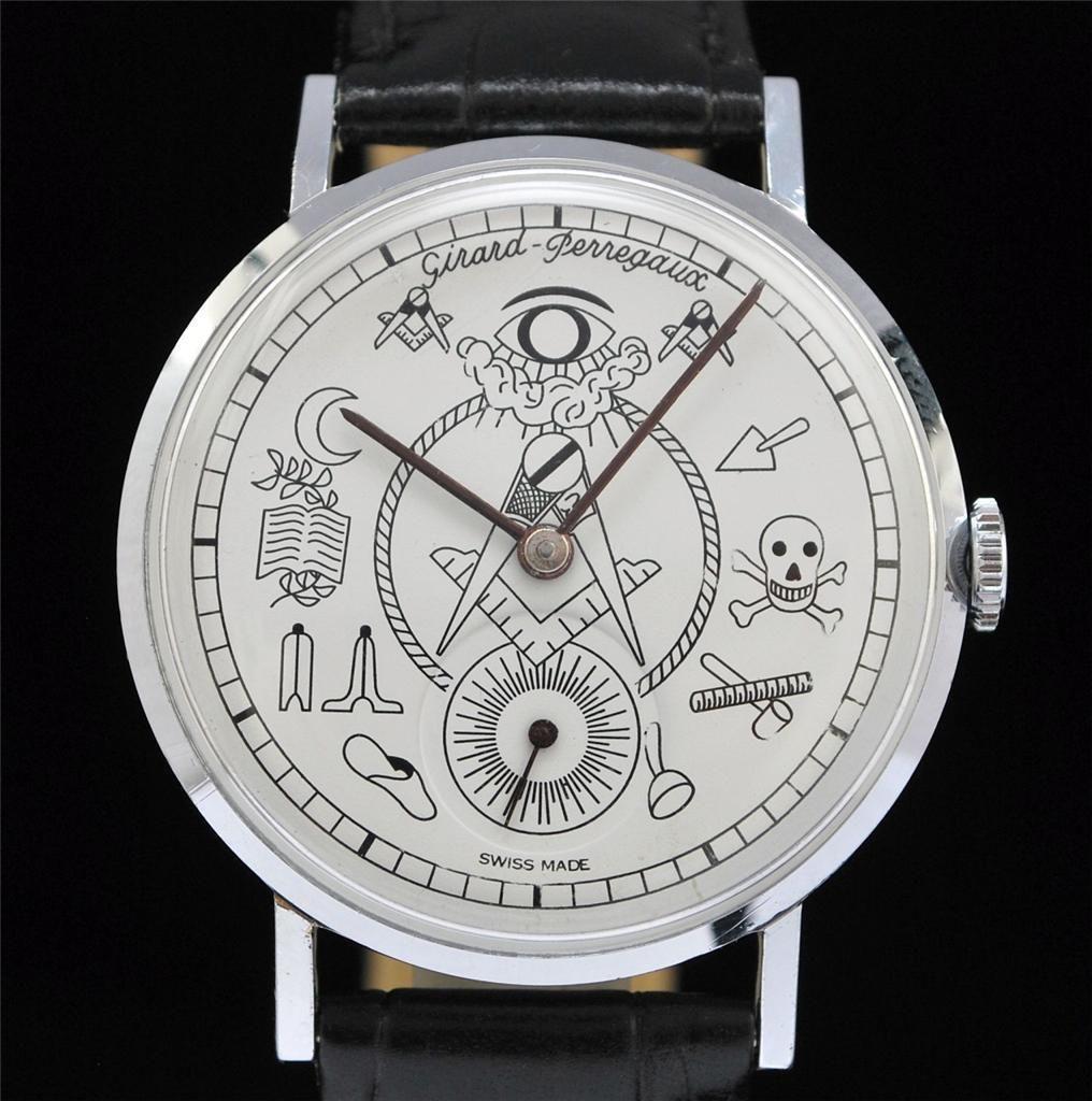 Vintage Girard Perregaux Masonic Watch