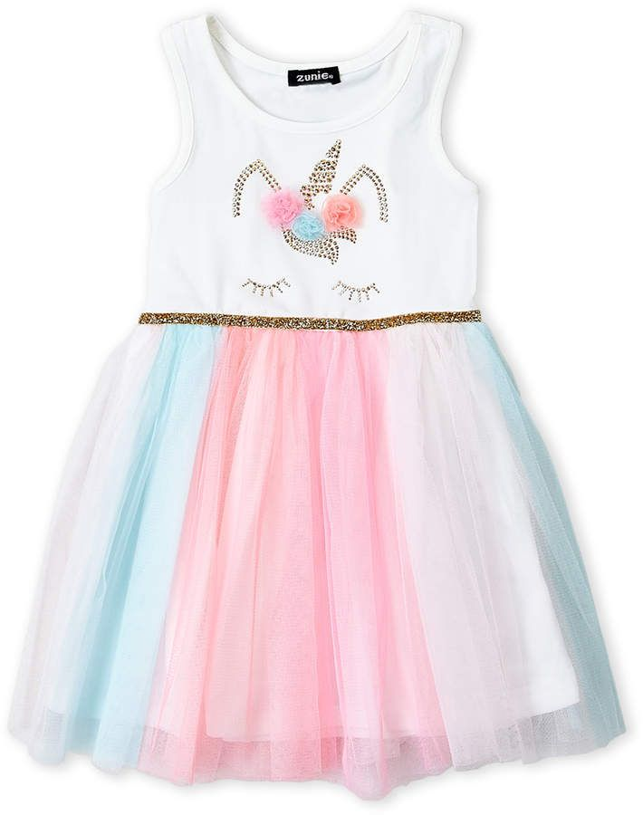 ac78e917d0ac1 Zunie (Girls 4-6x) Unicorn Tutu Dress #tulle#embellishments#gem ...