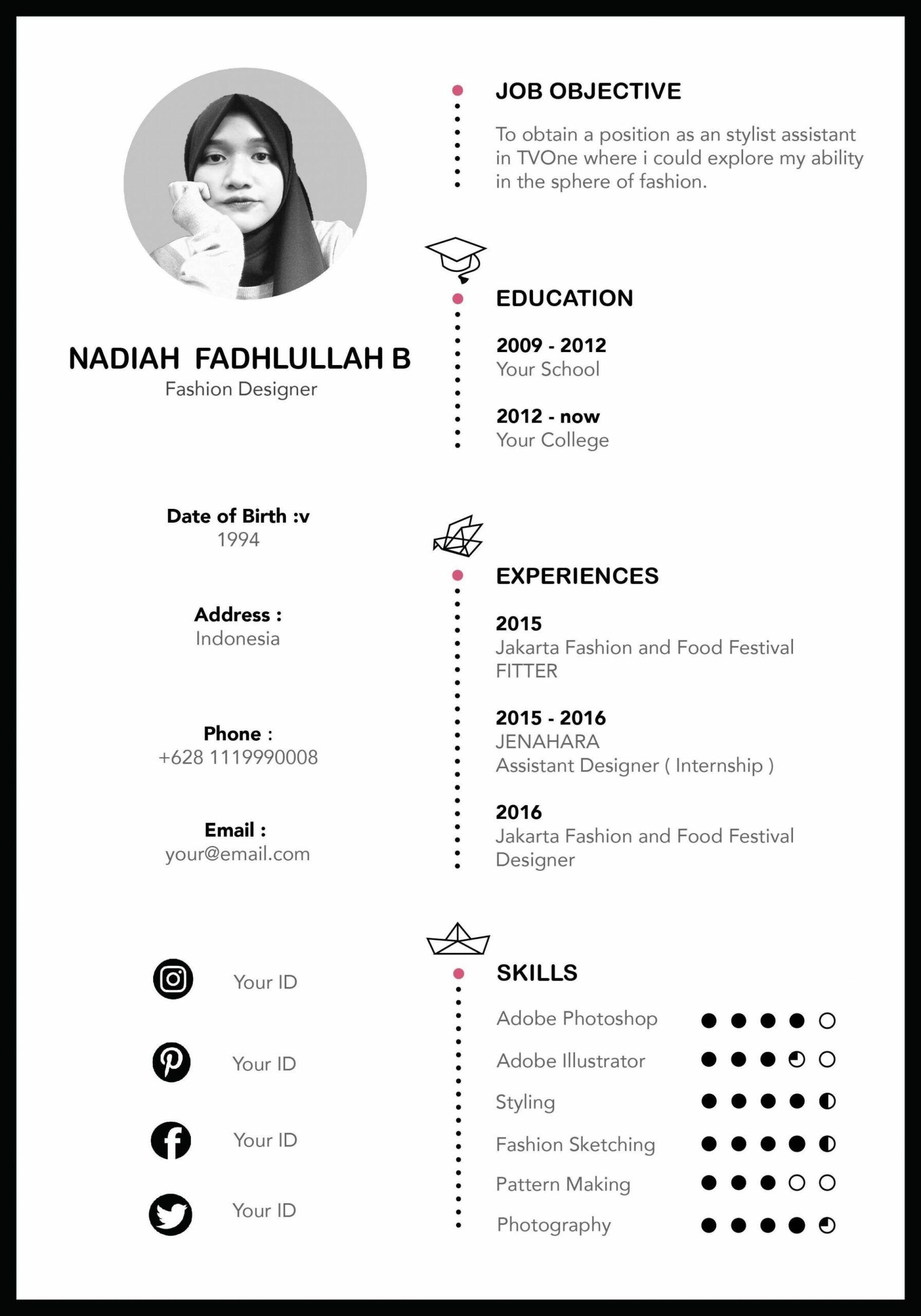 11 Resume Template Indonesia Di 2020 Creative Cv Template Cv Kreatif Desain Resume
