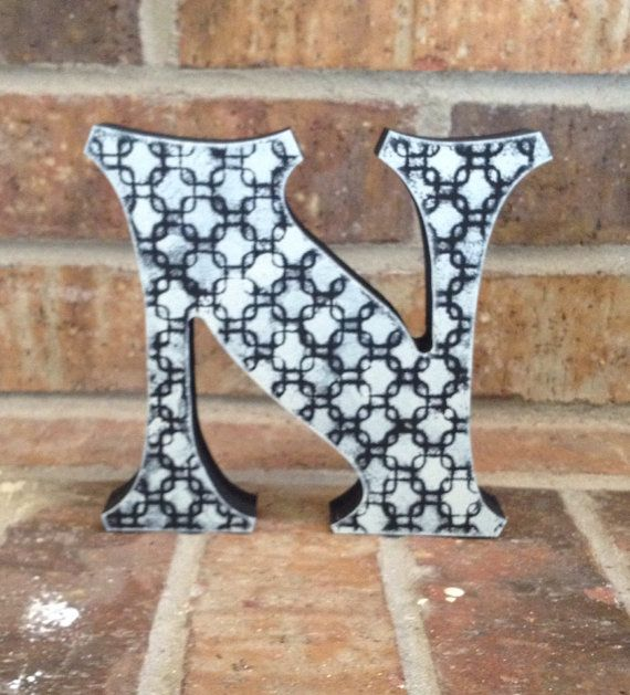 Customize Hand Painted Free Standing Letter by AJsPrivyCreations, $11.00