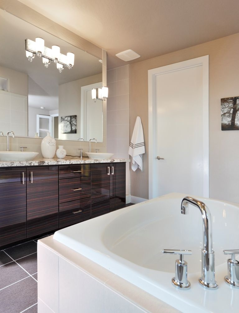 Bathroom Ideas Edmonton master bathroom in a custom home design #edmontonhomebuilders your