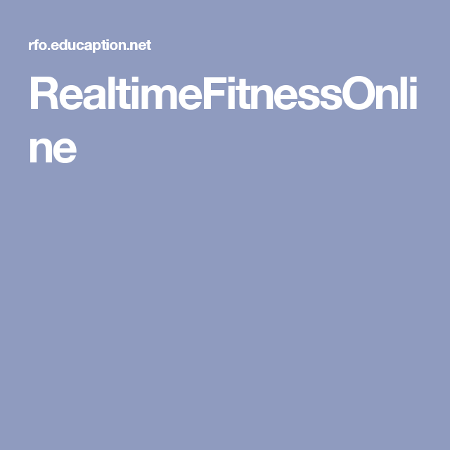 RealtimeFitnessOnline