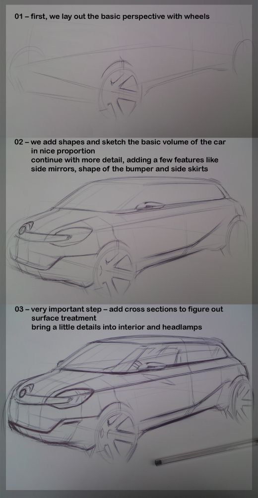 How to Draw Cars - Sketch Tutorial