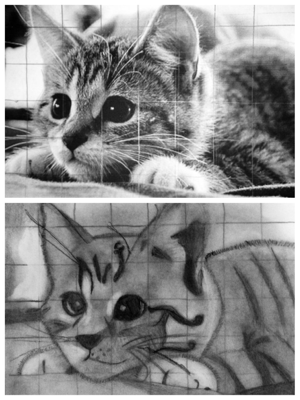 LMS Art   chuck close grid photorealism 8th