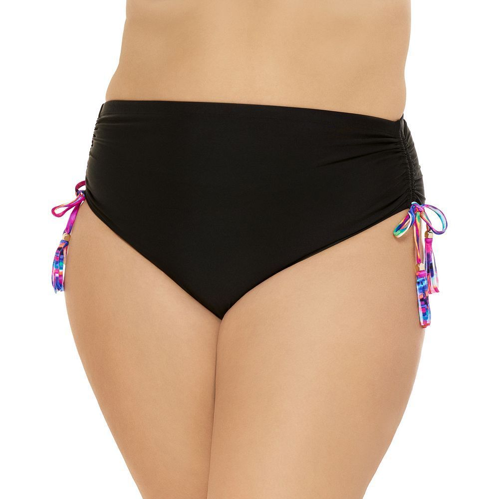 3995a11553 Juniors  Plus Size Costa Del Sol Ruched High-Waisted Bikini Bottoms ...