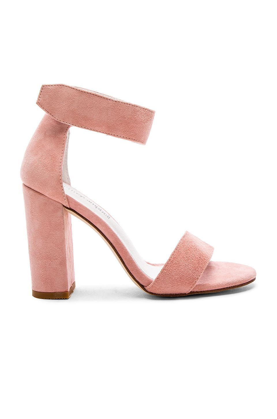 1de7bb7aa0de Jeffrey Campbell Lindsay Heels in Light Pink Suede