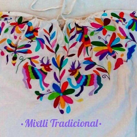 Blusa con bordado Tenangos #hidalgo ❤ #huipilstyle #huipil ...
