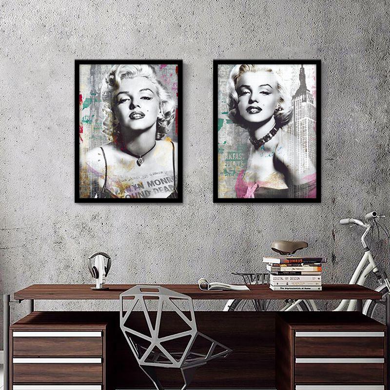 Hot retro high quality marilyn monroe canvas art wall