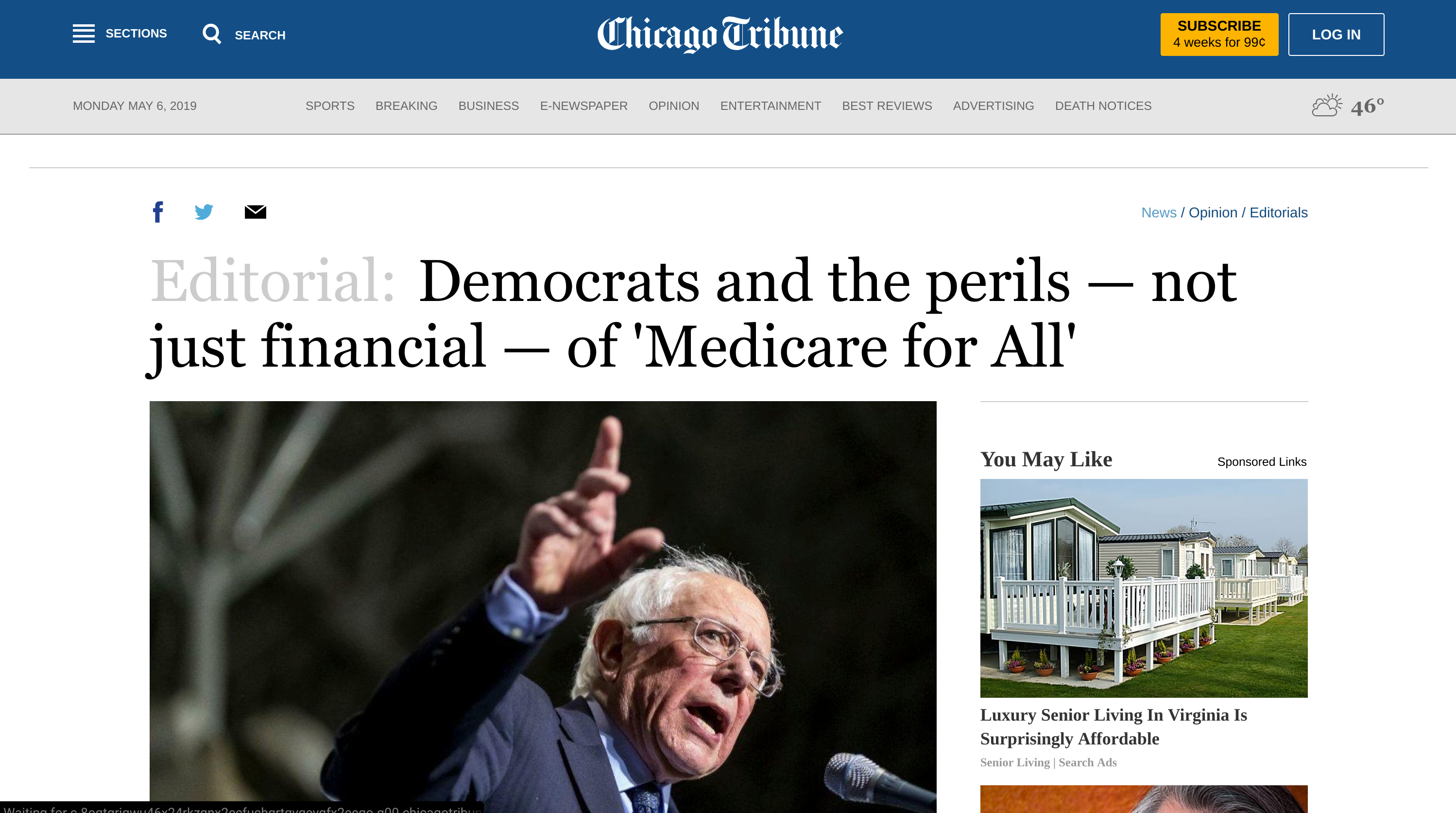 Democrats And The Perils Not Just Financial Of Medicare For