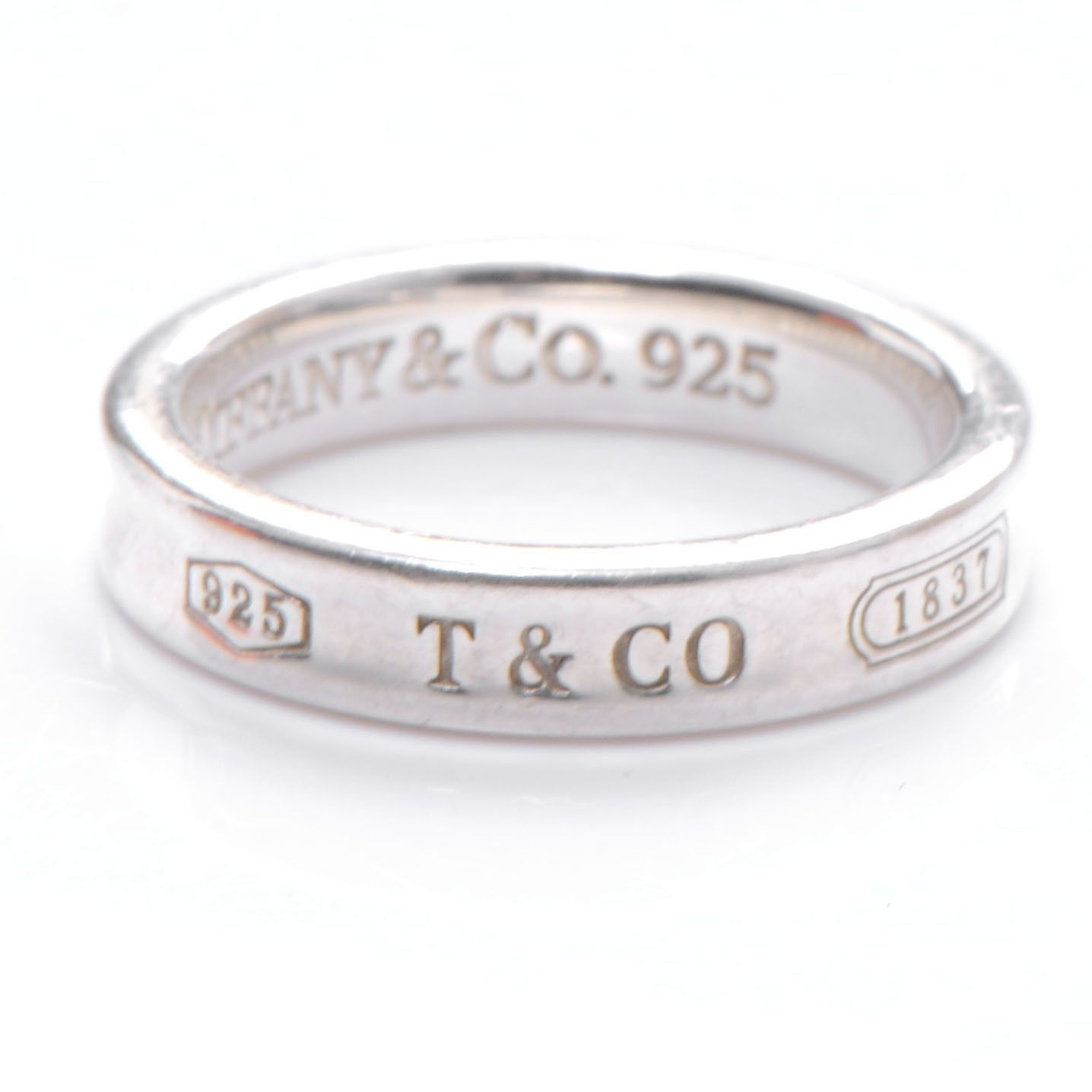 866c2b782 Tiffany and Co 1837 Sterling Silver 925 Ring Metal: 925 sterling silver size  8 Pre-owned: In good condition