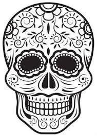 Caveira Mexicana Para Colorir E Imprimir Mmod