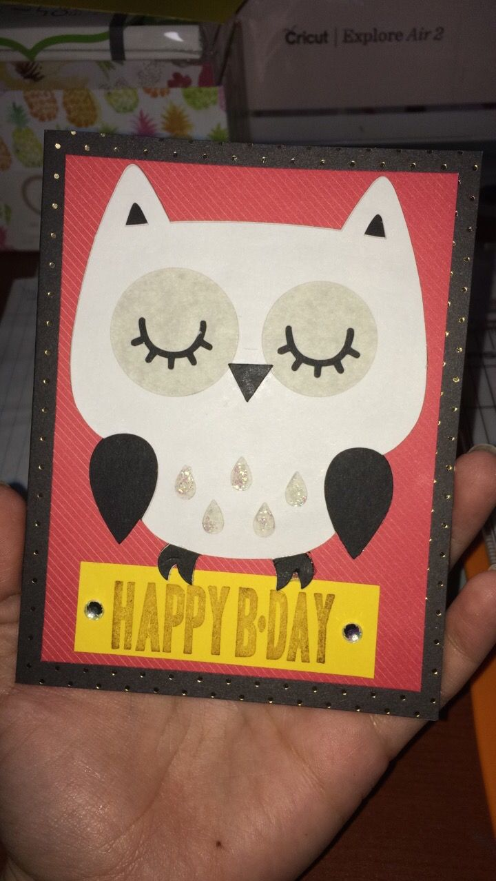 Harry Potter Inspired Birthday Card Cricut Cards