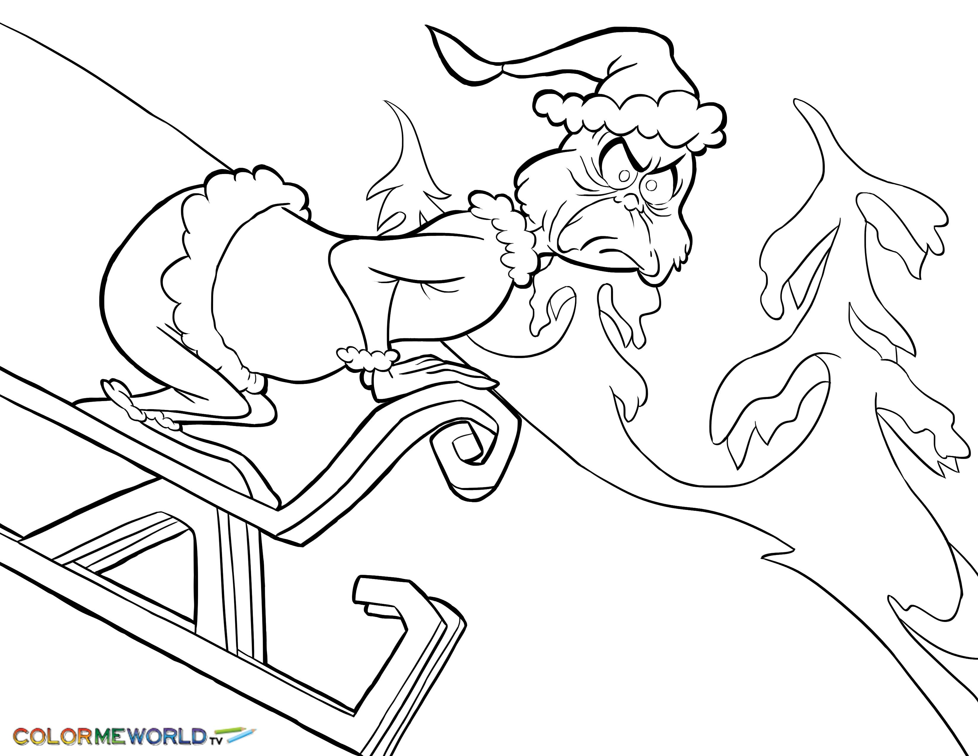 Grinch Christmas Coloring Pages Printable