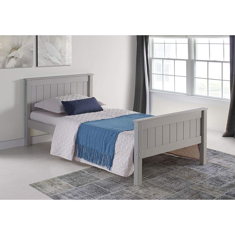 Alaterre AJHO1080 Harmony Twin Bed, Dove Gray