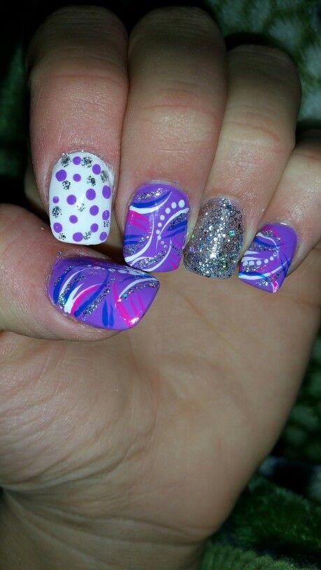 Purple glitter freestyle