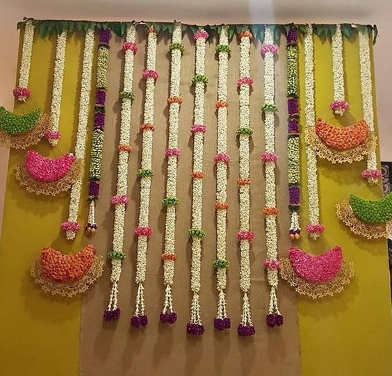 Simple Traditional Backdrop For Engagement Engagement Backdrop New Simple Deco Flower Deco Best Weddi Indian Decor Housewarming Decorations Flower Decorations