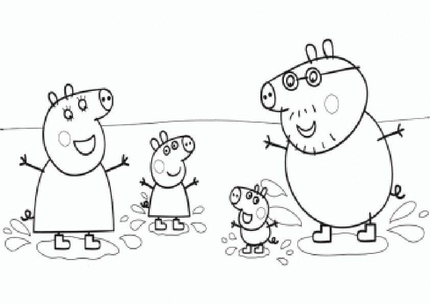 Malvorlagen Peppa Pig-1 | coloring 3 | Pinterest